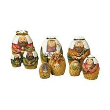 Holy Family Three Kings and Shepherd Christmas Nativity Nesting Dolls Set of 9