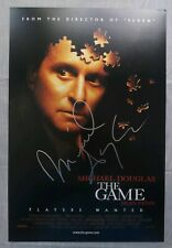 Michael Douglas THE GAME Signed Autographed 12x18 Movie Photo Poster COA