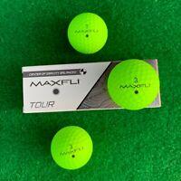 MAXFLI Tour Golf Balls - High Visibility MATTE GREEN - NEW Sleeve (3 balls)