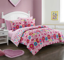 Mainstays Kids Daisy Floral Bed in a Bag Bedding Set Pink Twin