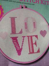 Cute Cross Stitch Kit- LOVE In Hoop