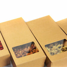10pcs 10*23.5*5cm STAND UP Kraft Paper Box Cookie Candy Tea retail Packing Box
