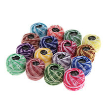 16pcs Mixed Color Cross Stitch Line Embroidery Cotton Thread Floss / Skeins