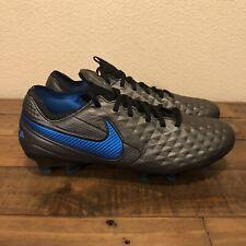 Nike Tiempo Legend 8 Elite FG ACC Soccer Cleats Black/Blue AT5293-004 Sz 7M/8.5W