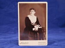 Lindner Cabinet Photo South Chicago IL Wealthy Woman Velvet Silk Flowers Curls