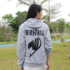 Anime Fairy Tail Zipper hoodie & Hat Autumn Winter Sweatshirt Cotton Hoody M-XXL