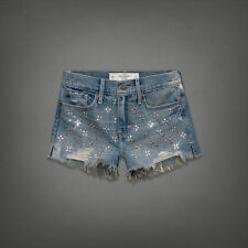 Abercrombie & Fitch Shorts Women's Girls Denim Jeans Size 25/0 By Hollister