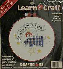 "DIMENSIONS Stamped Cross Stitch Kit #72317 ANGEL GATHERING  6"" Round NEW"