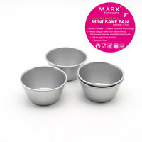 New 3 inches High-carbon Steel Mini Cake Pan Non-stick Pudding Muffin Tart Mold