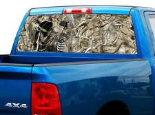 P452 Camo Reaper Bow Hunter Rear Window Tint Graphic Decal Wrap Back Pickup