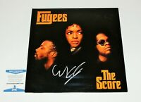 SINGER WYCLEF JEAN SIGNED THE FUGEES THE SCORE VINYL ALBUM RECORD LP BECKETT COA