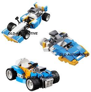 LEGO 3 in 1Auto da Corsa Costruzioni Creator Bolidi Hot Rod Motoscafo 4x15x6 cm