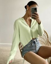 ZARA Knit Lime Green Buttoned Cardigan Size M