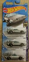 Hot Wheels Back To The Future Time Machine Hover Mode Delorean Lot of 3