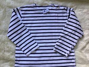 Petite Bateau Striped tee shirt size 6 ans/114cm blue white