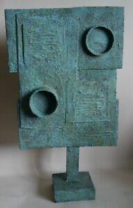 Retro abstract sculpture brutalist modernist  influenced  Bill Low