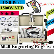 USB 6040 4 Axis Engraver CNC Router 1.5KW VFD Metalworking Machine W/ Controller