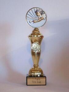 "Sport-Pokal ""Billard"" mit Wunschgravur"