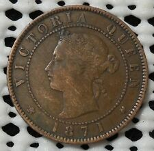 1871 PRINCE EDWARD ISLAND 1 CENT NICE CIRCULATED COIN NO DINGS DENTS OR DAMAGE