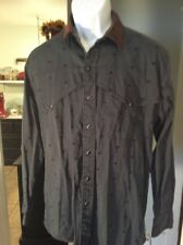 ROPER SPORT Cowboy Western Long Sleeve Shirt Med/Large 16/33 Buffalo Pattern