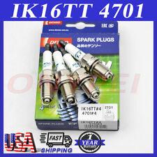 4 Denso IK16TT 4701 Iridium TT Spark Plug For Toyota Audi Mazda Honda Acura Ford