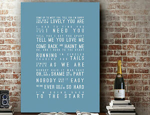 Coldplay The Scientist | Poster Word Wall Art SONG LYRICS PRINT | CANVAS GIFT