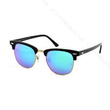 Nueva!!!!! Ray-Ban Clubmaster Gafas De Sol-RB3016 901/19 - Negro/Verde Flash