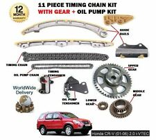 FOR HONDA CRV 2.0 VTEC K20A4 150BHP 2001-> TIMING CHAIN + GEARS + OIL PUMP KIT