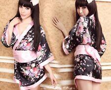 NEW Japanese Style Sexy Kimono Sakura Print Robe
