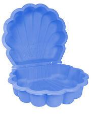 Ondis24 Sandkasten Sandmuschel Wassermuschel Planschbecken blau 2-tlg abdeckbar