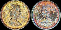 """1974 CANADA """"WINNIPEG"""" SILVER DOLLAR HIGH QUALITY COLOR TONED COIN"""