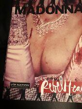 Madonna Rebel Heart Australia New Zealand Tour Programme Rare VIP Nation