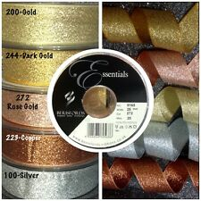 Berisfords Metallic Lame Glitter Sparkly Wedding Craft Christmas Ribbon 200 - Gold 25mm X 2 Mtrs