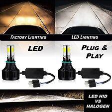 6v 6500k H4 SMD COB 360° 6k LED White Headlight HID Hi/Low Light Bulb Kit Pair