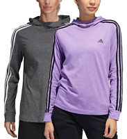 NWT Adidas Women's Ladies' Jersey Pullover Hoodie Gray Purple XS - XL
