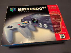 Nintendo 64 Original Video Game Console Complete Open Box Next to New
