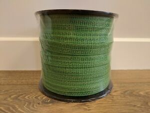 20mm 200 Metre Green Electric Fence Poly Tape - Fencing Horse Paddock - ECONOMY