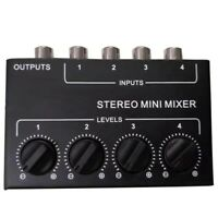 Cx400 Mini Stereo Rca 4-Kanal Passiv Mixer Klein Mixer Mixer Stereo Dispens C3A8