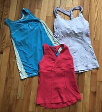 Lululemon Lot Of 3 Tank Tops Athletic Wear Womens Sz 6