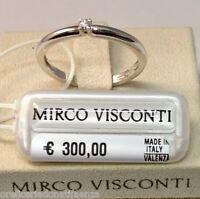 Anello in oro bianco 18kt 750/°°° MIRCO VISCONTI con Diamante solitario
