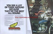 Honda Range Motorcycle 1977 Magazine Advert #1584