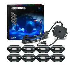 MICTUNING C1 8 Pods RGBW LED Rock Light Underglow Neon Light Kit Music Bluetooth
