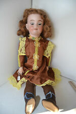 """Gorgeous 25"""" Simon & Halbig Open Teeth Mouth German Bisque Character Doll"""