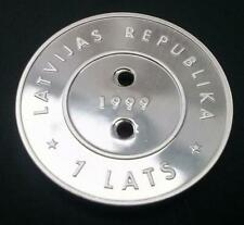 Latvia 1999 - 2000 Millennium Coin Silver Proof With COA