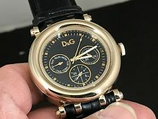 D&G DOLCE & GABBANA DAYDATE 24 HOURS DUAL TIME QUARTZ MEN'S WATCH