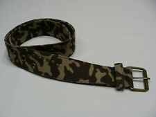 "CAMOUFLAGE - FLAT STUDDED - BRASS BUCKLED - SIZE 7 - 2"" INCH BELT!"