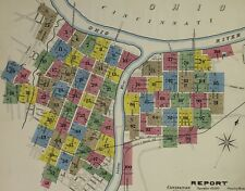 Covington area of , Kentucky~Sanborn Map© sheet~55 maps made in 1894 in color.