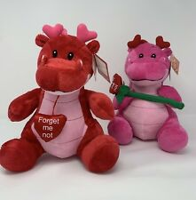 """Nwt Fiesta Pink or Red Valentine Dragon Stuffed Animal, 'Forget Me Not"""""""