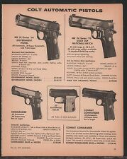 1972 COLT MK IV Series '70 Government, Gold Cup, .25 Auto, Commander Pistol AD