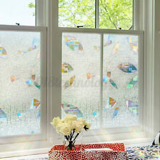 Privacy Window Glass Film Sticker Stained Anti UV Self-adhesive Rainbow Stickers